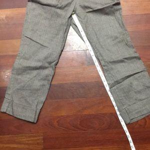 Brown herringbone Capri pants